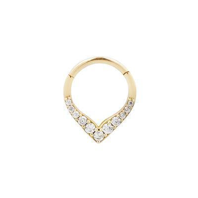 CZ yellow gold ring