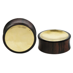 Wood Plugs with a Brass inlay