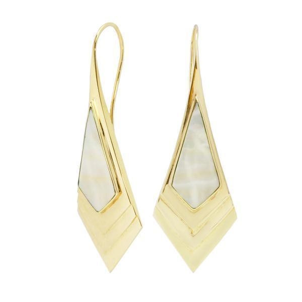 Art Deco Mother of Pearl Earrings