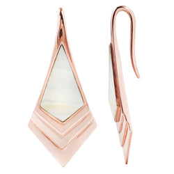 Rose Gold Earrings for Stretched Ears