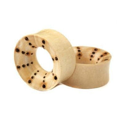 Crocodile wood eyelets for stretched ears
