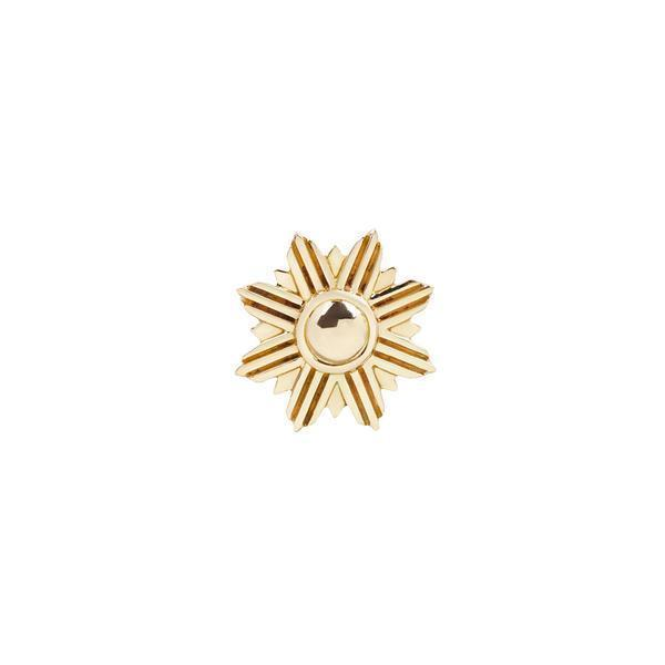 Yellow gold sun shaped design
