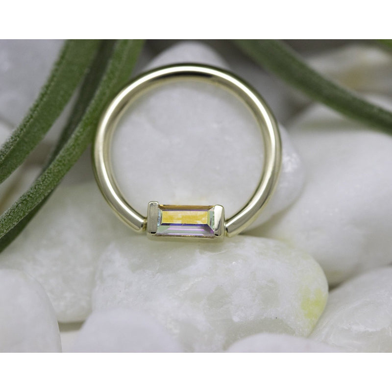 BVLA Baguette Fixed Ring Mercury Mist Topaz 16g 3/8''