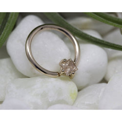 BVLA Princess Axis Fixed Ring Oregon Sunstone Rose Gold 16g 3/8''