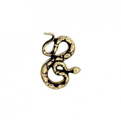 BVLA Threaded Coiled Snake Yellow Gold Antiqued 16g 9.0 mm