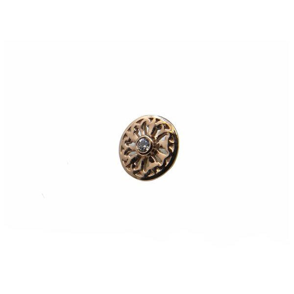 BVLA Threaded Maira Rose CZ Gold 16g 1.5 mm