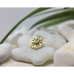 BVLA Threaded Maira White Opal Yellow Gold 16g 1.5 mm
