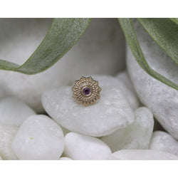 BVLA Threadless Afghan Rhodolite AA Rose Gold 1.5 mm