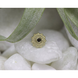 BVLA Threadless Afghan Smokey Quartz Yellow Gold 1.5 mm