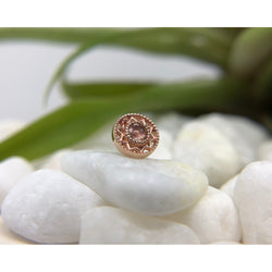 BVLA Threadless Bandera Oregon Sunstone Rose Gold 2.5 mm