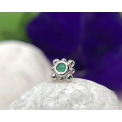 BVLA Threadless Bezel with 8 Beads Chrysoprase White Gold 2.0 mm
