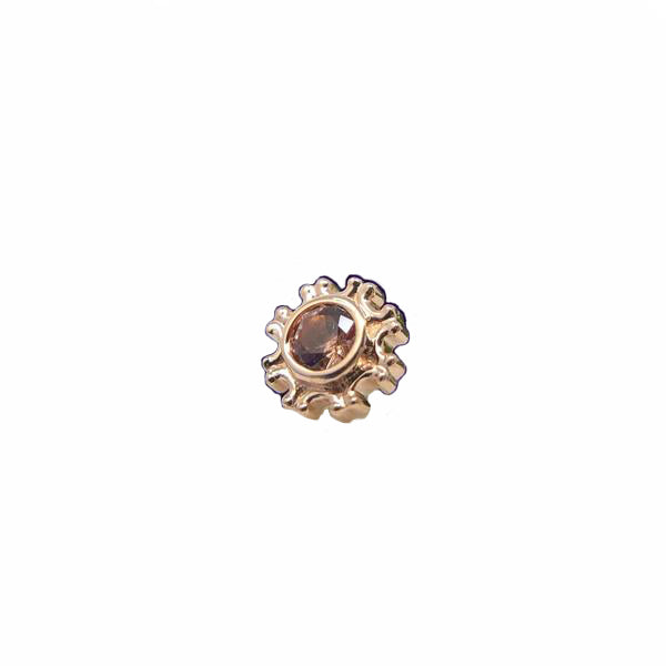 BVLA Threadless Firenze Champagne Sapphire Rose Gold 2.5 mm