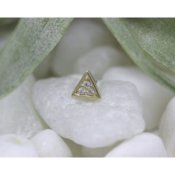 BVLA Threadless Micro Pave Triangle CZ 1.0 mm