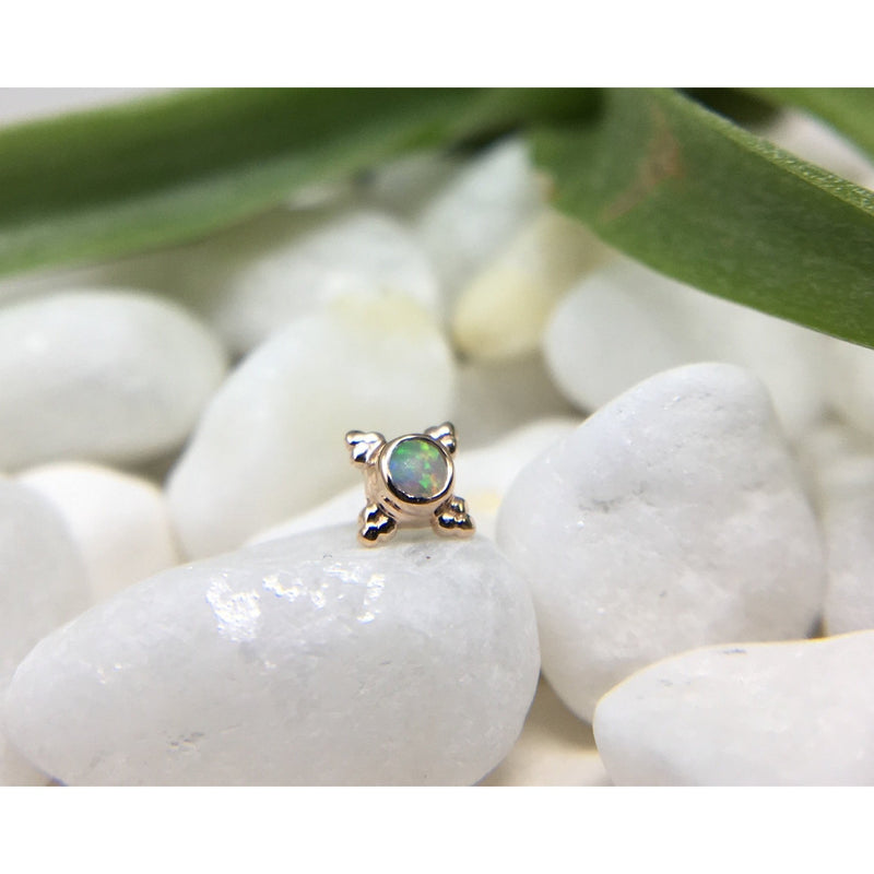 BVLA Threadless Mini Kandy White Opal Rose Gold