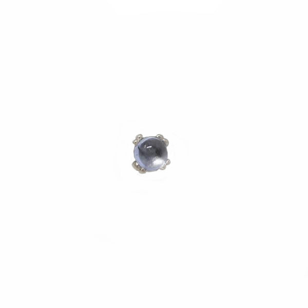 BVLA Threadless Prong Cabochon Swiss Blue Topaz