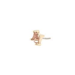 BVLA Threadless Prong Princess Oregon Sunstone Yellow Gold 3.0 mm