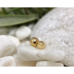 Plain gold bead