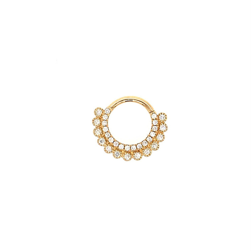 Maria Tash Apsara Clicker Genuine Diamond Yellow Gold 16g 5/16''