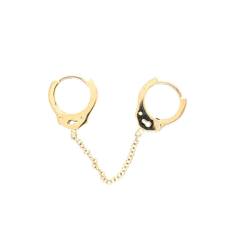 Yellow gold handcuff clicker