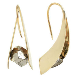Pyrite stone earrings