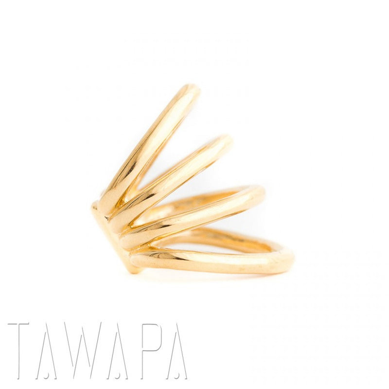 yellow gold ear cuff
