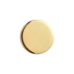 Threadless Disk High Polish Yellow Gold