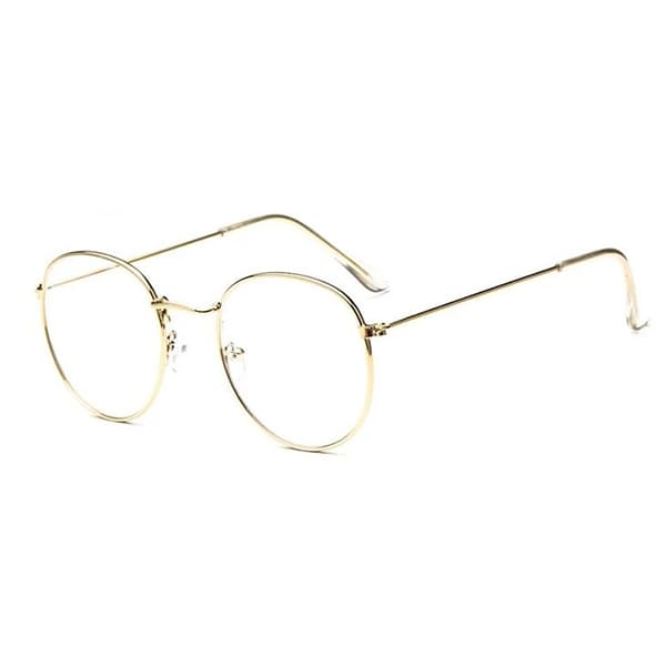 Lunettes Sans Correction Homme Ovales Or