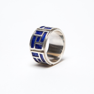 QN BLUE ENAMEL RING