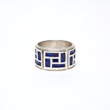 Load image into Gallery viewer, QN BLUE ENAMEL RING