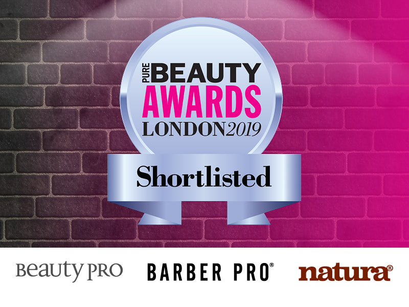 Pure Beauty Awards 2019 - we've been shortlisted!