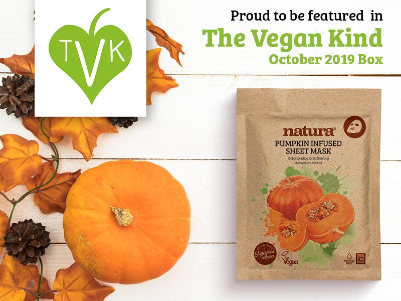 Proud to have natura Pumpkin Mask featured in The Vegan Kind October Box