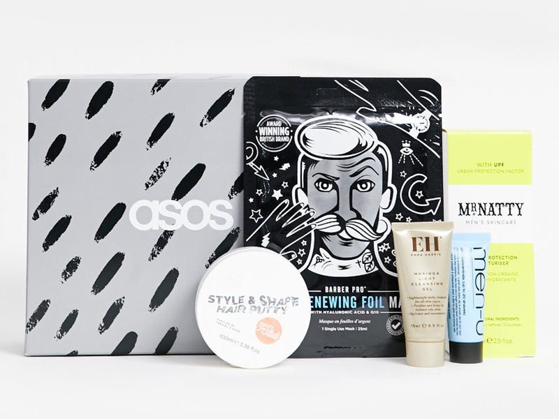 ASOS Men's Grooming Box Featuring BARBER PRO Skin Renewing Foil Mask...Perfect Gift For Him or For You!