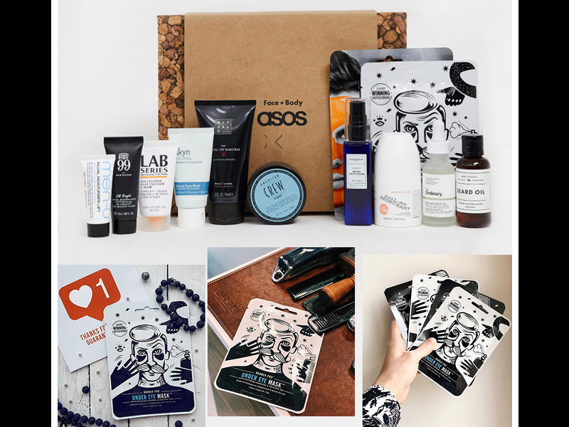 Introducing Face + Body Advent Calendar by asos featuring BARBER PRO Under Eye Mask