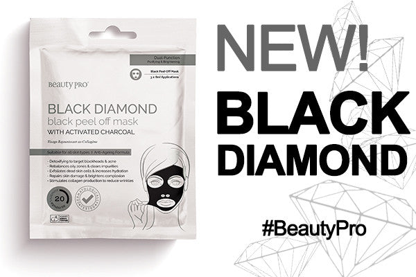 Introducing BeautyPro BLACK DIAMOND Black Peel-Off Mask with Charcoal