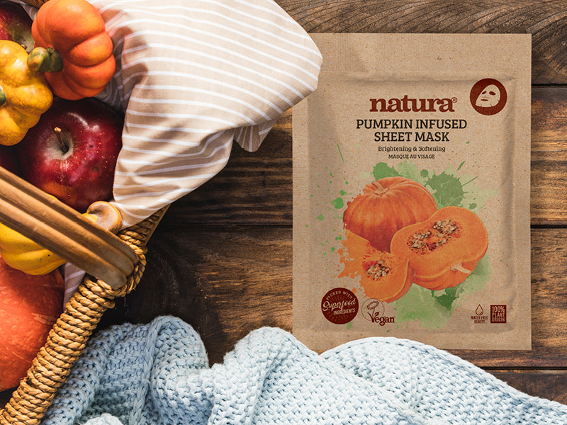 8 reasons why our natura Pumpkin Infused Sheet Mask is good for your skin