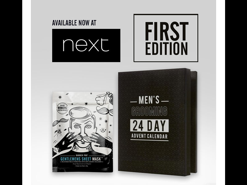 Men's Grooming 24 Day Advent Calendar by next.co.uk featuring BARBER PRO Gentlemens Sheet Mask