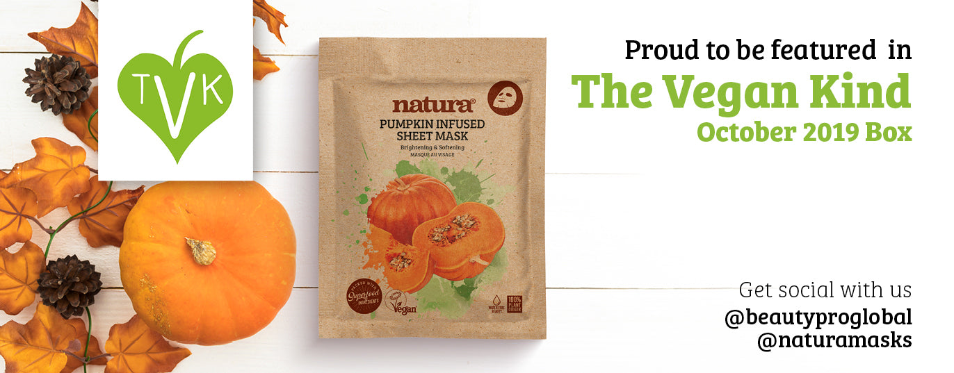 natura pumpkin mask in the vegan kind October Box