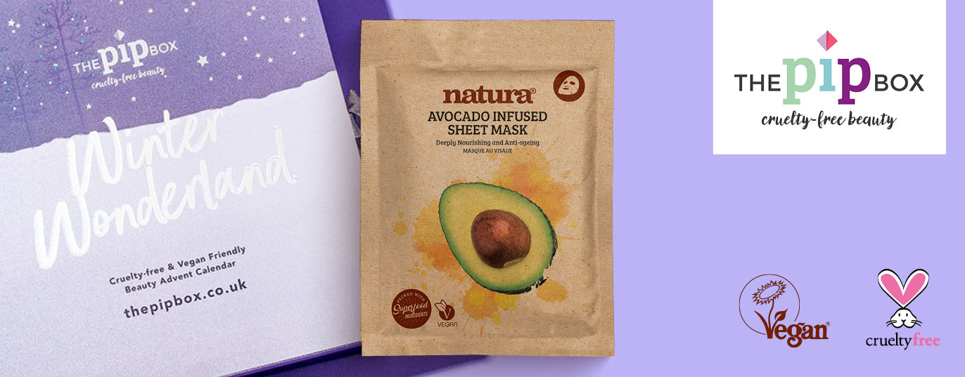 The Pip Box Advent Calendar 2019 featuring natura avocado mask