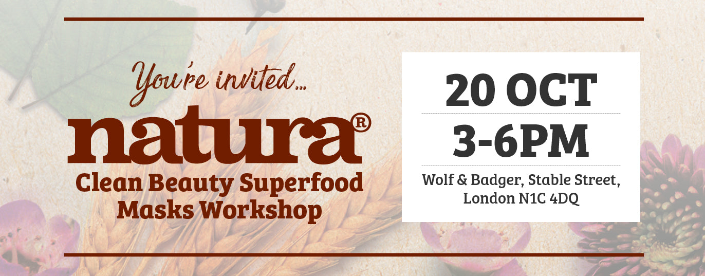 natura superfood mask workshop at Wolf&Badger