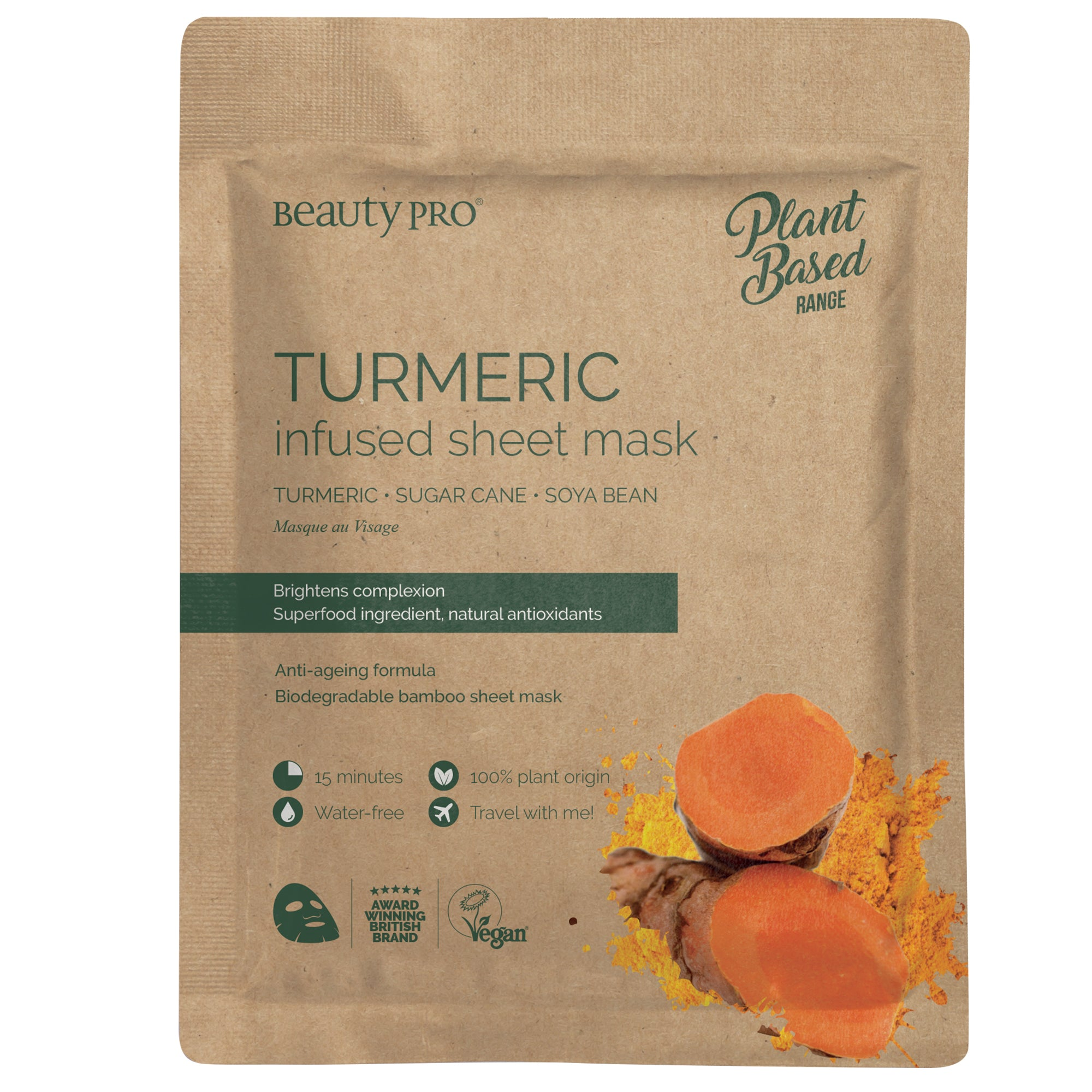 TURMERIC Infused Sheet Face Mask