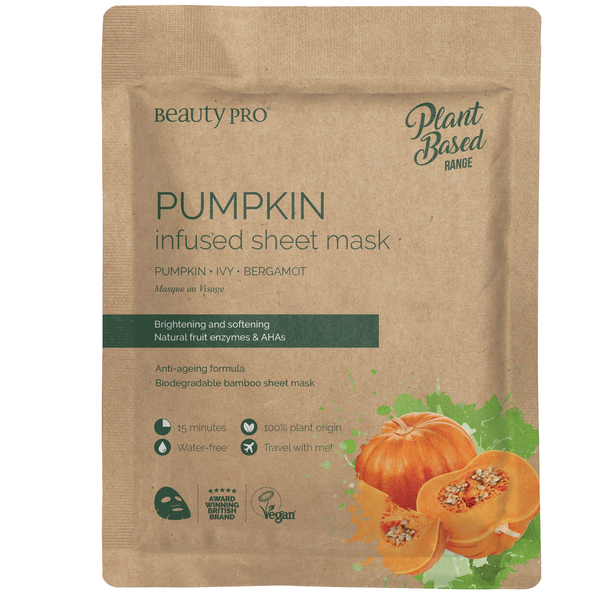 Pumpkin Infused Sheet Face Mask By Beautypro