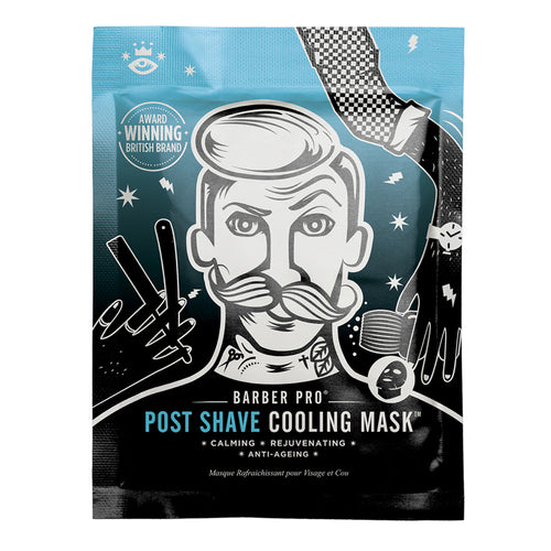 BARBER PRO POST SHAVE COOLING MASK with Anti-Ageing Collagen