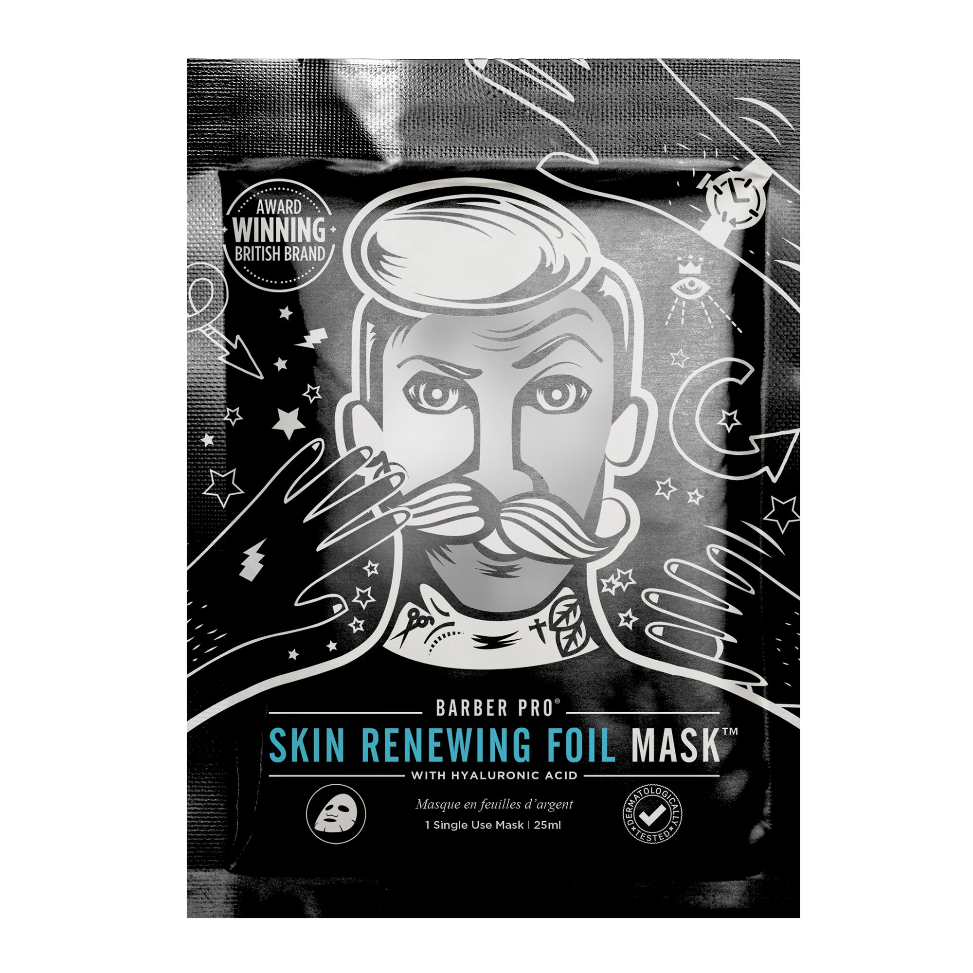 BARBER PRO SKIN RENEWING FOIL Mask with Hyaluronic Acid & Q10