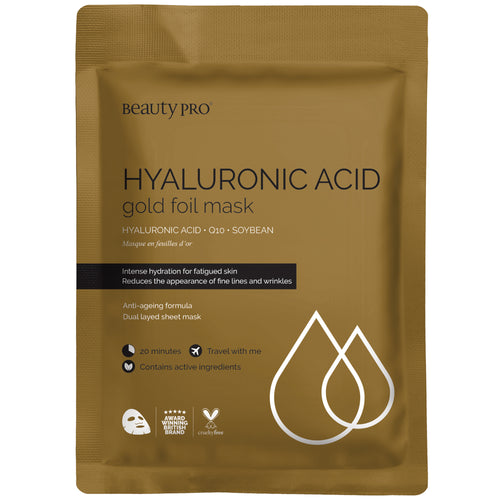 HYALURONIC ACID Gold Foil Mask