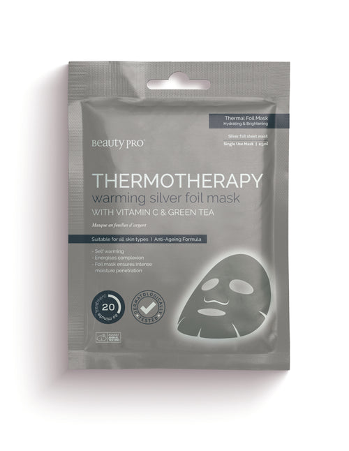 THERMOTHERAPY Warming Silver Foil Mask with Vitamin C & Green Tea Front