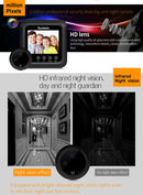 Danmini W5 2.4 inch Screen 2.0MP Security Camera No Disturb Peephole Viewer Doorbell, Support TF Card / Night Vision / Video Recording(Black) - star-produkte.myshopify.com