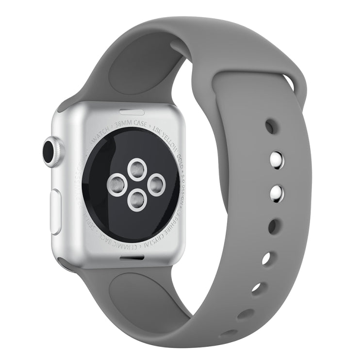 Double Rivets Silicone Watch Band for Apple Watch Series 3 & 2 & 1 42mm (Grey) - Star Produkte