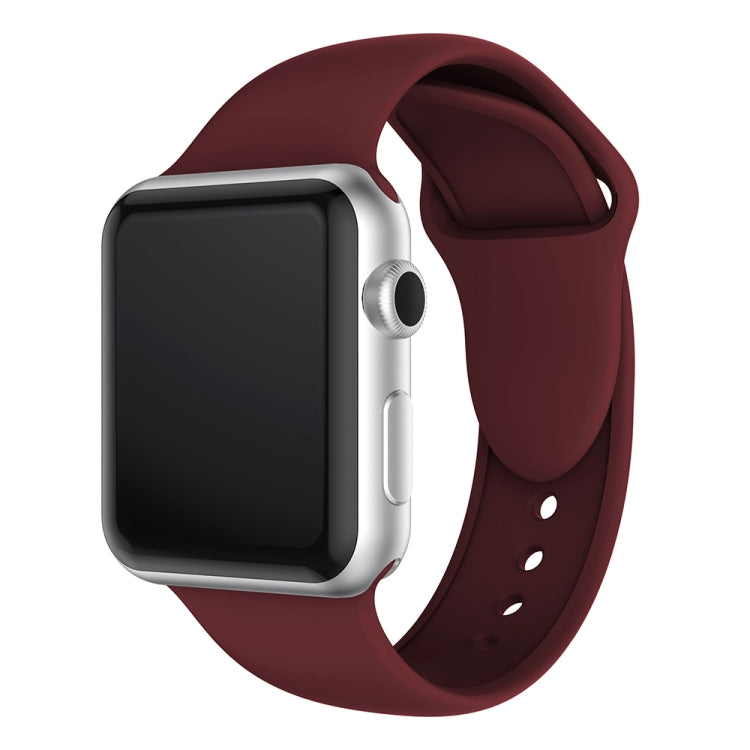 Double Rivets Silicone Watch Band for Apple Watch Series 3 & 2 & 1 42mm (Wine Red) - Star Produkte