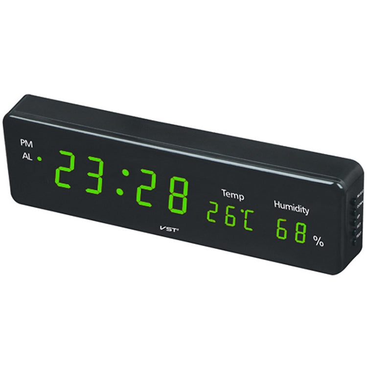 Combinatorial Alarm Clock Practical Digital Hanging Dual-purpose LED Clock, EU Plug(Green) - Star Produkte
