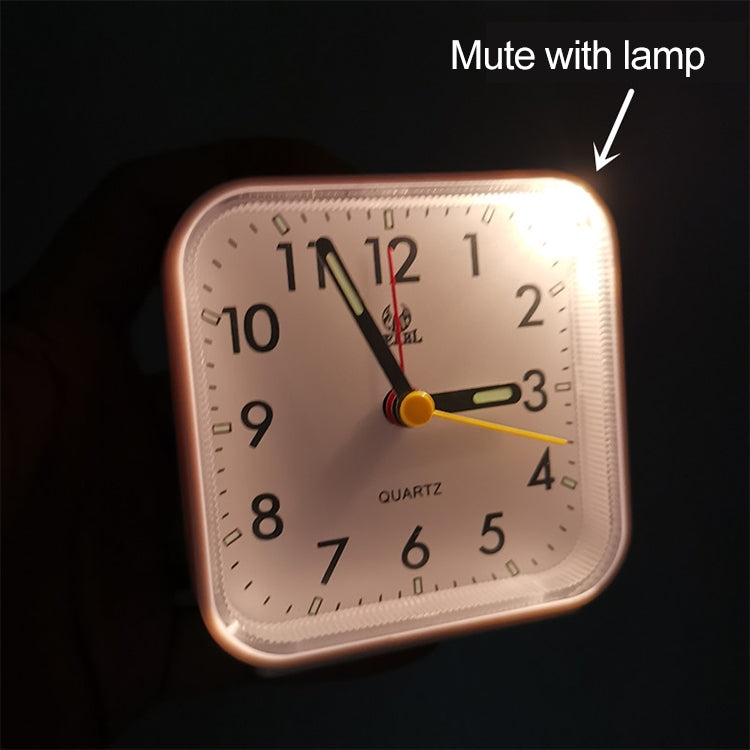 Square Mute Alarm Clock Mini Bedside Office Electronic Clock(Black) - star-produkte.myshopify.com